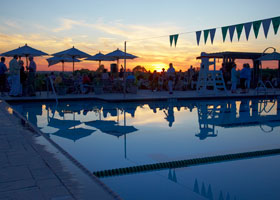 OLCC Pool at Sunset
